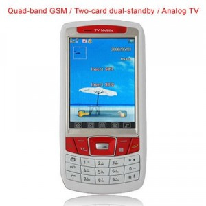 Quad band GSM Two-card dual-standby / Analog TV